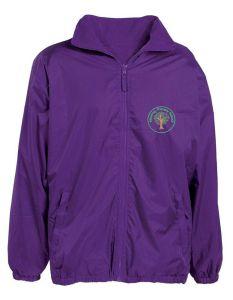 Warkworth (Green) Purple Showerproof Jacket - Embroidered Mowbray Primary School Logo