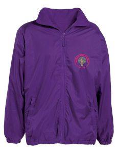 Alnwick (Red) Purple Showerproof Jacket - Embroidered Mowbray Primary School Logo