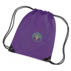 Warkworth (Green) Purple PE Bag - Embroidered with Mowbray Primary School Logo