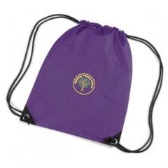 Bamburgh (Yellow) Purple PE Bag - Embroidered with Mowbray Primary School Logo