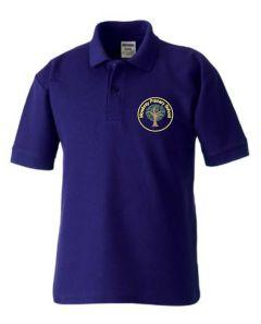 Bamburgh (Yellow) Purple Polo Shirt - Embroidered Mowbray Primary School Logo