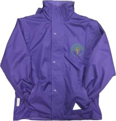 Warkworth (Green) Purple Stormproof Coat - Embroidered with Mowbray Primary School Logo