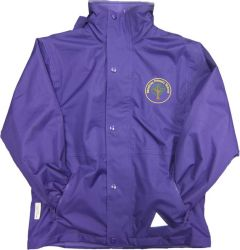 Bamburgh (Yellow) Purple Stormproof Coat - Embroidered with Mowbray Primary School Logo