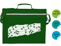 Music Bag - for Durham High School - Music Notes Printed