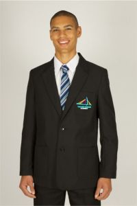 Boys Black Blazer - Embroidered with New Bridge Academy logo