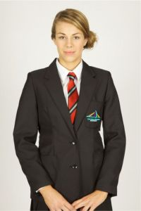 Black Girls Blazer - Embroidered with New Bridge Academy logo