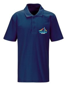 Navy Polo - Embroidered with New Bridge Academy logo