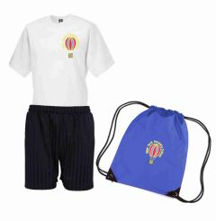 PE KIT (T-shirt, Shorts & PE Bag) - Embroidered with New York Primary Logo
