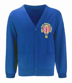 Royal Sweat Cardigan - Embroidered with New York Primary School logo