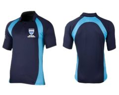 Navy/Sky Akoa Sector Polo Top - Embroidered with Norham High School logo