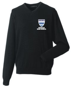 Black Jumper - Embroidered with Norham High School Logo