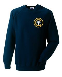 Navy Sweatshirt - Embroidered with North Gosforth Academy logo