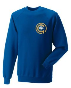 Royal PE Sweatshirt - Embroidered with North Gosforth Academy logo