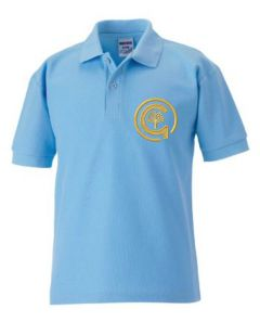 Sky PE Polo - Embroidered with North Gosforth Academy logo