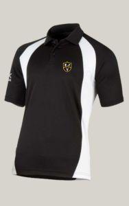 Black/White Akoa Boys Polo Top - Embroidered with Park View School logo