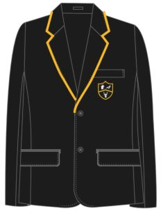 Boys Black Blazer - for Park View School (Supplied with iron/sew on House Badge (Compulsory)