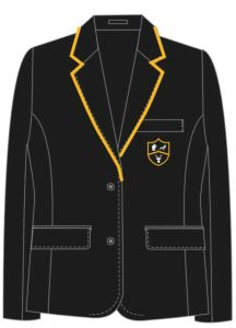 Girls Black Blazer - for Park View School (Supplied with iron/sew on House Badge (Compulsory)