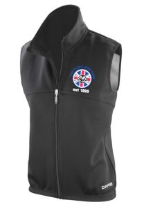 Ladies Black Airflow Gilet - Embroidered with The Parks Judo Club Logo + Printed on Back