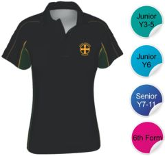 PE Polo - Embroidered with Durham High School Logo