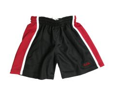 PE Shorts Black/Red/White - Embroidered with Christ's College, Sunderland Logo