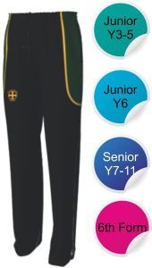 Tracksuit Bottoms - Embroidered with Durham High School Logo