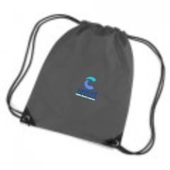 Graphite Grey PE Bag - Embroidered with Cleaswell Hill School Logo