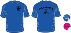Performing Arts Tee Shirt - Embroidered with Durham High School Logo + Printed Performing Arts on Back