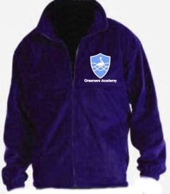 Purple Fleece - Embroidered With Grasmere Academy Logo