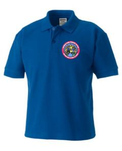 Royal Blue Polo- Embroidered with Hadrian Park Primary School logo