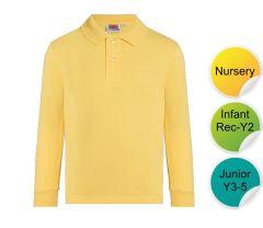 Gold Polo Long Sleeve - for Durham High School
