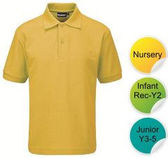 Gold Polo Short Sleeve - for Durham High School