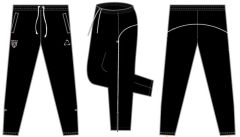 Black Tracksuit Bottoms - Embroidered with Ponteland High School Logo * SALE *