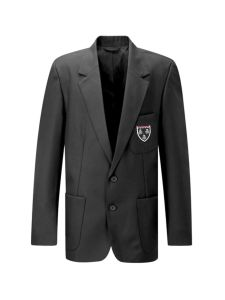 Grey Boys Blazer - Embroidered with Ponteland High School Logo