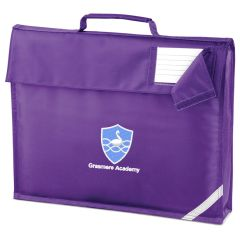 Purple Book Bag - Embroidered With Grasmere Academy Logo