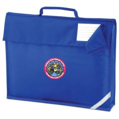 Royal Blue Book Bag - Embroidered with Hadrian Park Primary School logo