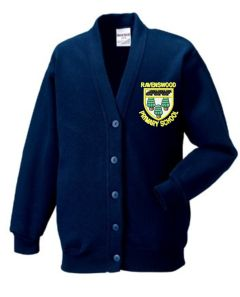 Navy Cardigan - Embroidered With Ravenswood Primary School Logo