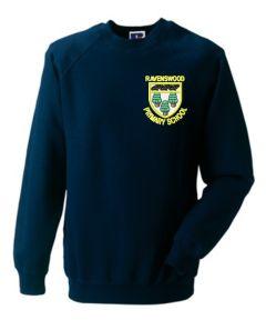 Navy Sweatshirt Crew Neck - Embroidered With Ravenswood Primary School Logo