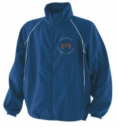 Royal/White Training Jacket - Embroidered with Redesdale First School logo + Printed on Back