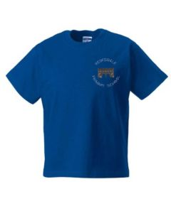 Royal PE T-Shirt - Embroidered with Redesdale logo