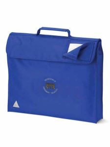 Royal Blue Book Bag with embroidered Redesdale Primary School Logo