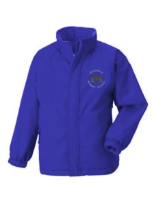 Royal Blue Reversible Coat with Redesdale Primary School Logo