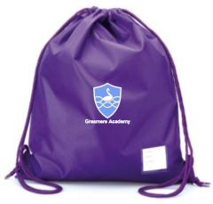 Purple PE Bag - Embroidered With Grasmere Academy Logo