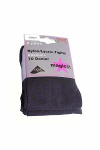 Magicfit Grey 70 denier opaque Tights (Twin Pack)