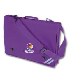 Purple Document Case - Embroidered with Sacriston Academy Logo