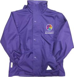Purple Result Stormproof Coat - Embroidered with Sacriston Academy Logo