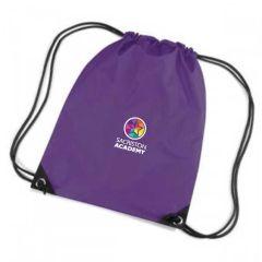 Purple PE Bag - Embroidered with Sacriston Academy Logo
