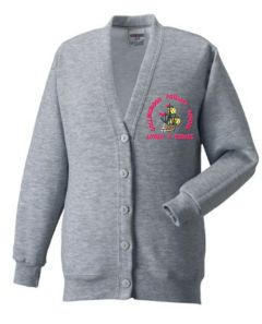 Oxford Grey Cardigan - Embroidered with Collingwood Primary School Logo