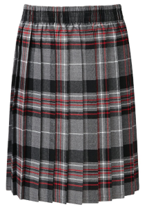Junior Girls Grey Tartan Kilt Skye (1EJ)
