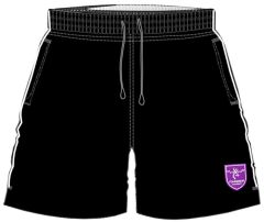 Girls PE Shorts Black/White - Embroidered with Staindrop Academy Logo