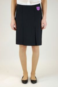 Black Senior Twin Pleat Skirt (GKS) - Embroidered with Staindrop Academy Logo